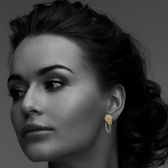 Nube Gold Earring
