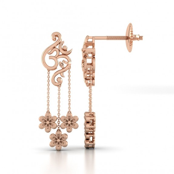 Siddhartha Gold Earring