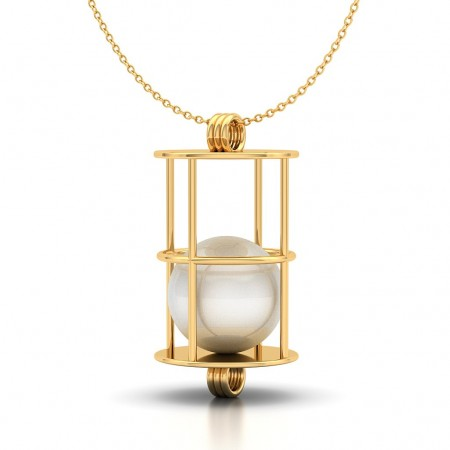 Pearl Cage Gold Pendant