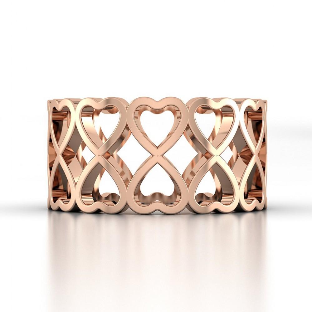 Twin Parade Heart Ring