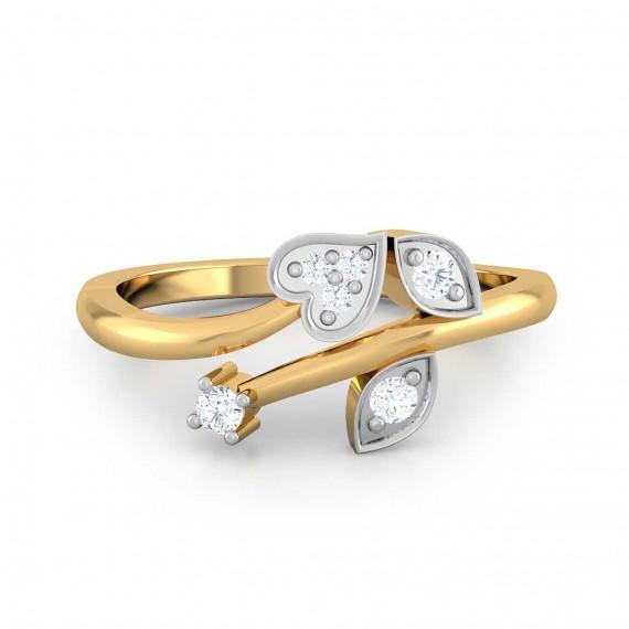 Heart Leave Diamond Rings