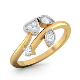 Heart Leave Diamond Rings