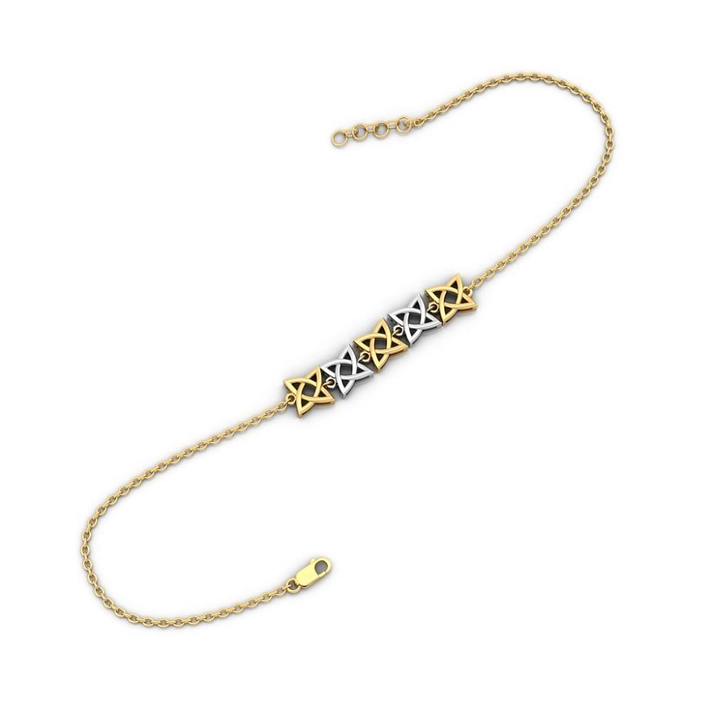 Pleat Gold Bracelet