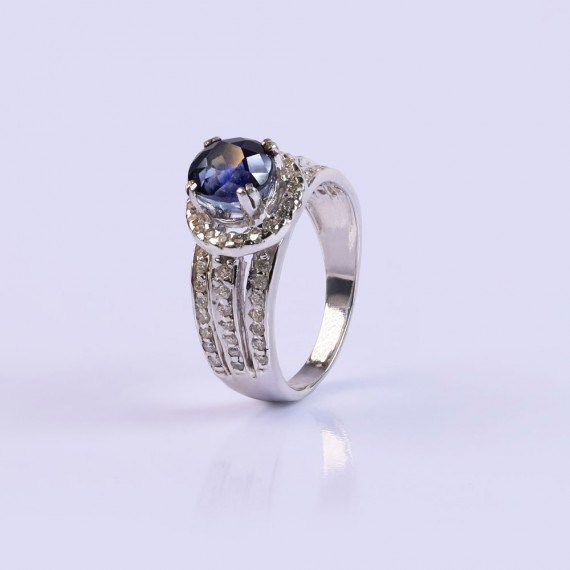 Sapphire and diamond statement ring