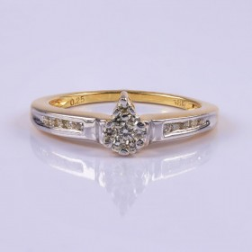 Priceless pear ring