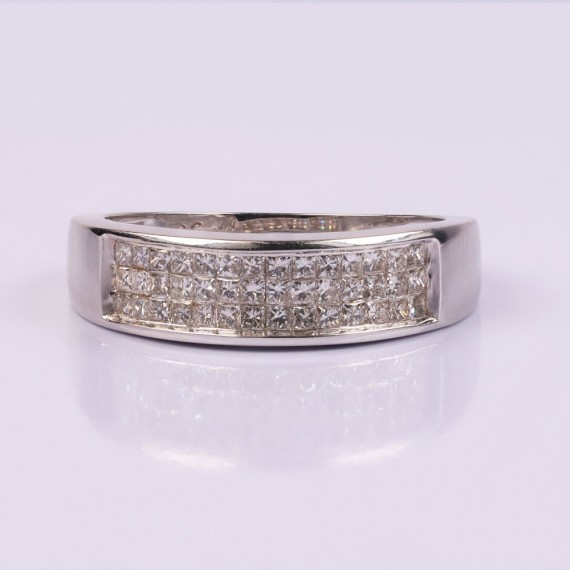 3 tier channel diamond ring