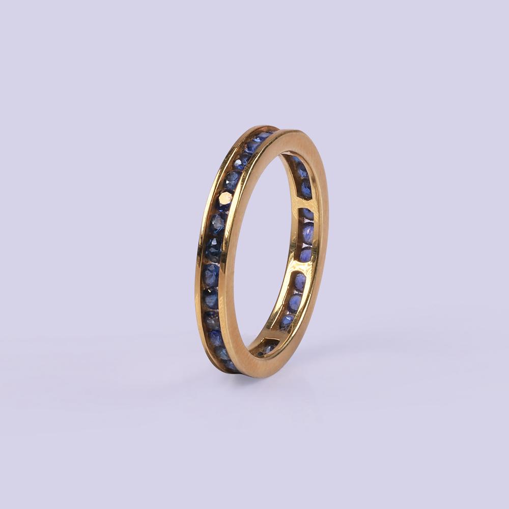 Vintage Blue Sapphire Ring