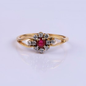 Wedding Ruby Ring