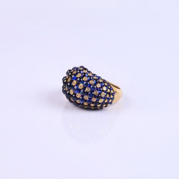 Cocktail Blue Sapphire Ring