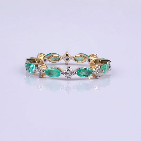 Elizabeth emerald ringband