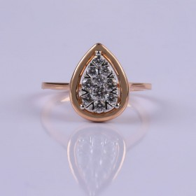 Pear setting ring