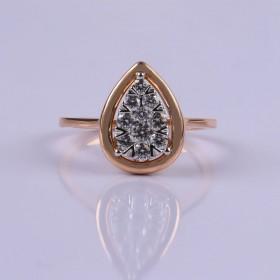 Pear setting ring