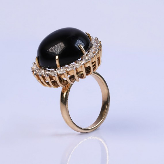 Feline spiral cocktail ring