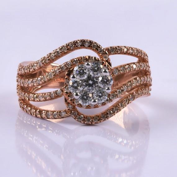 Rosegold octopus ring