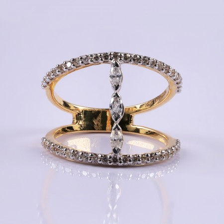 Diamond Oyster Ring