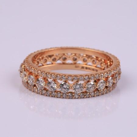 Rosegold set of 3 rings