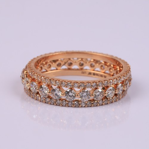Rosegold set of 3 rings