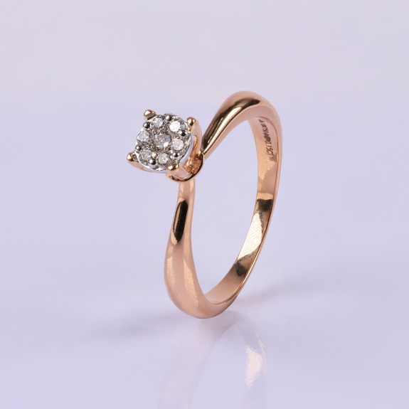 Rosegold Round Diamond Ring