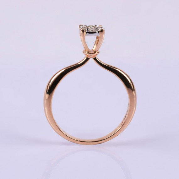 Rosegold Round Diamond Ring