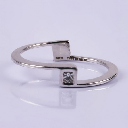 Young and beautiful diamond ring