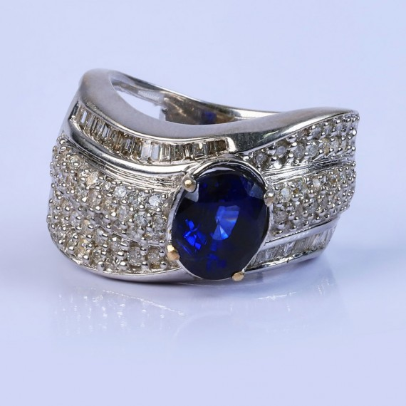 Designer blustone ring